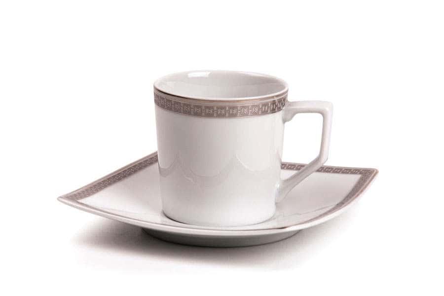 KYOTO 1554 Набор кофейных пар 12 предмета Saint Germain Platine Тунис