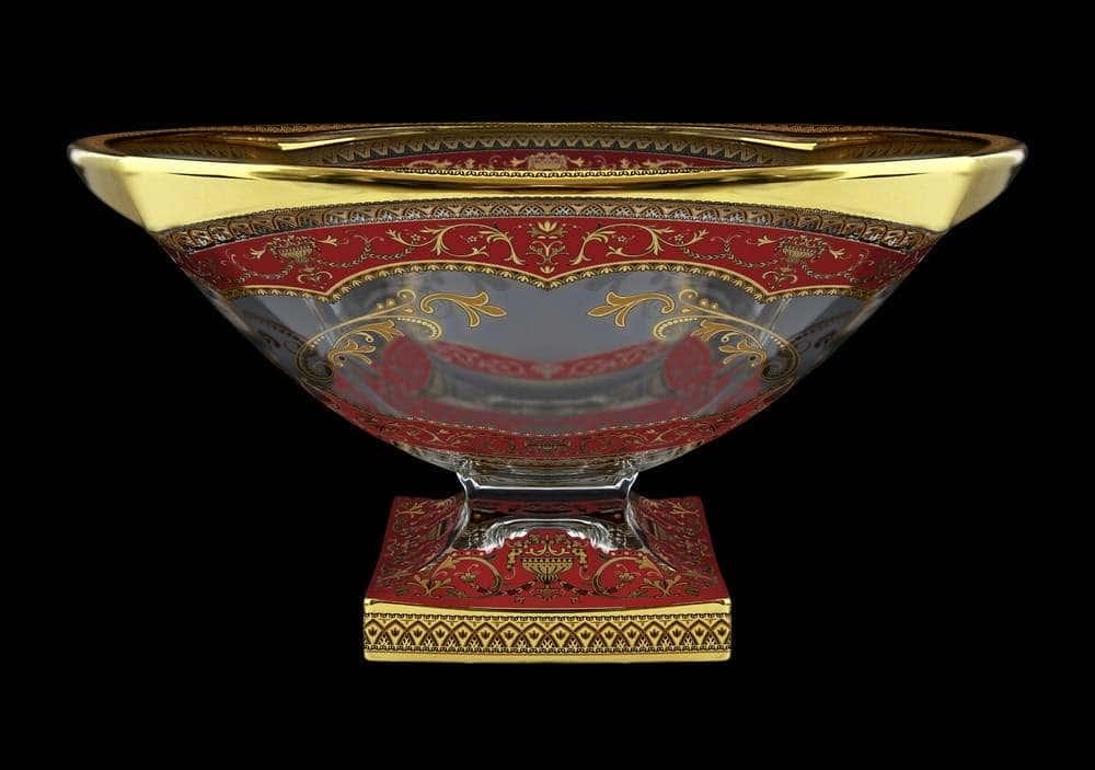 Магма Империя Красная Ваза для фруктов Astra Gold 34 см