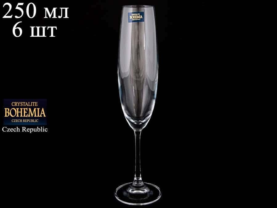 BARBARA Набор фужеров для шампанского Crystalite 250 мл