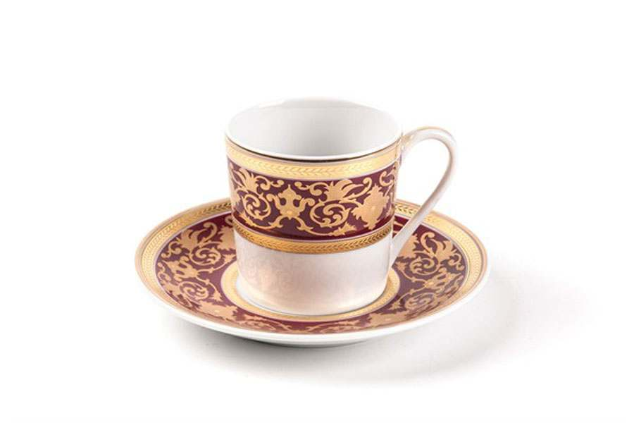 MIMOSA 0631 Ramses Bordeaux Набор  кофейных пар  12 предмета Тунис