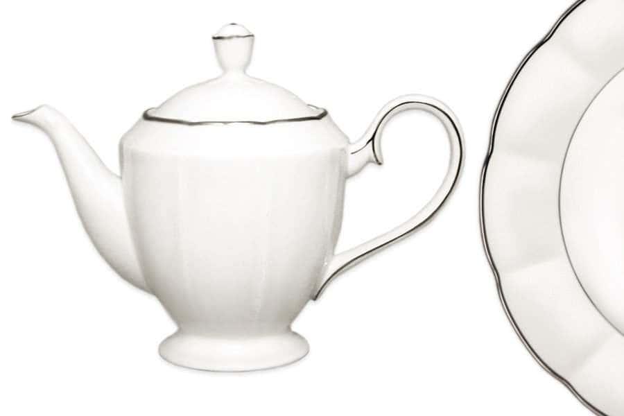 Чайник  с крышкой Серебряный лотос Narumi  Индонезия