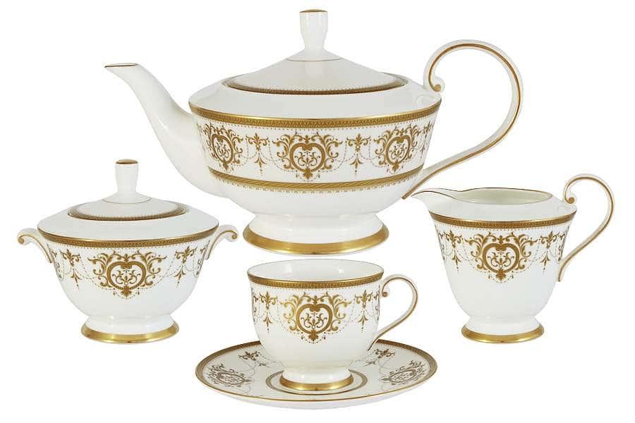Чайный сервиз из 17 предметов на 6 персон Тиара Голд Narumi Индонезия