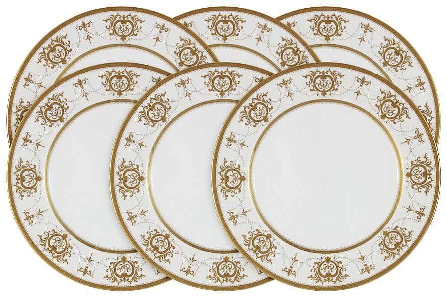 Набор из 6 обеденных тарелок Тиара Голд Narumi  Индонезия