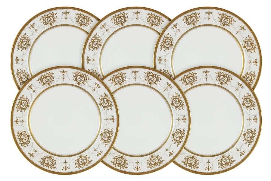 Набор из 6 десертных тарелок Тиара Голд Narumi Индонезия