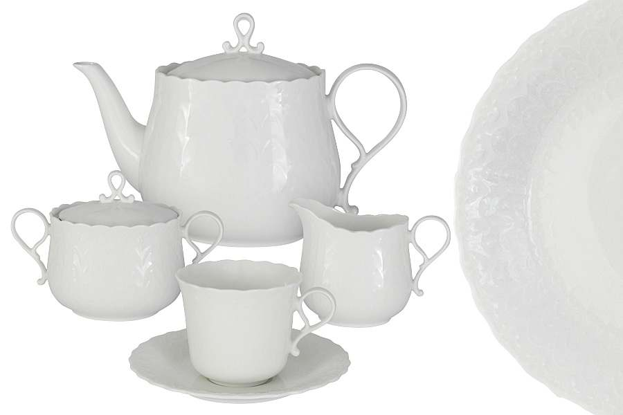 Чайниый сервиз из 17 предметов на 6 персон Шёлк Narumi Индонезия
