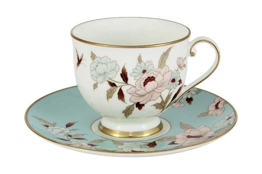 Чашка с блюдцем Мирей голубой Narumi  Индонезия