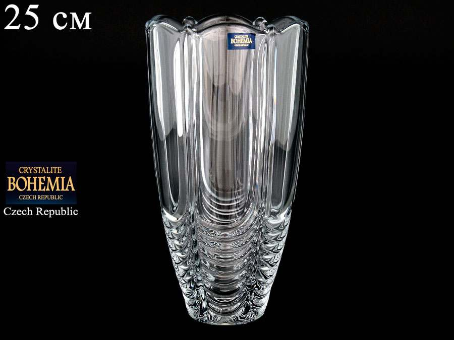 ORION Ваза для цветов Crystalite Bohemia 25 см широкая