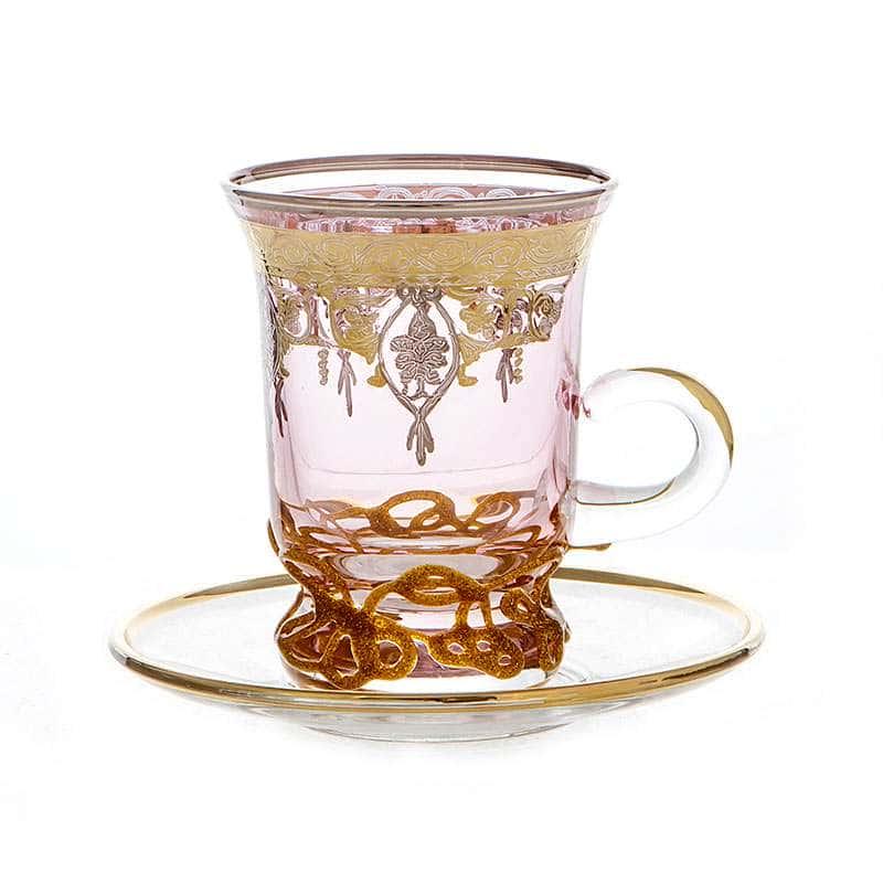Алессия розовая Набор для чая Декотэч 150 мл.на 6 перс.12 пред.