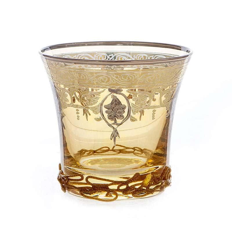 Алессия желтая Набор стаканов для виски Decotech 250 мл.6 шт.