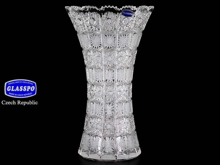 Glasspo Ваза для цветов иксовка 35 см