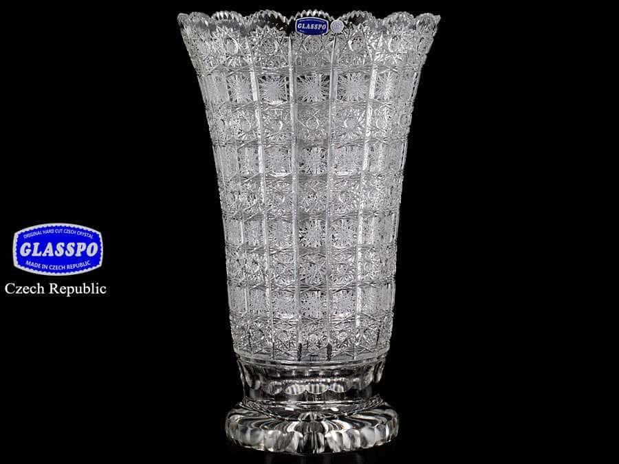 Glasspo Ваза для цветов из хрусталя 40 см