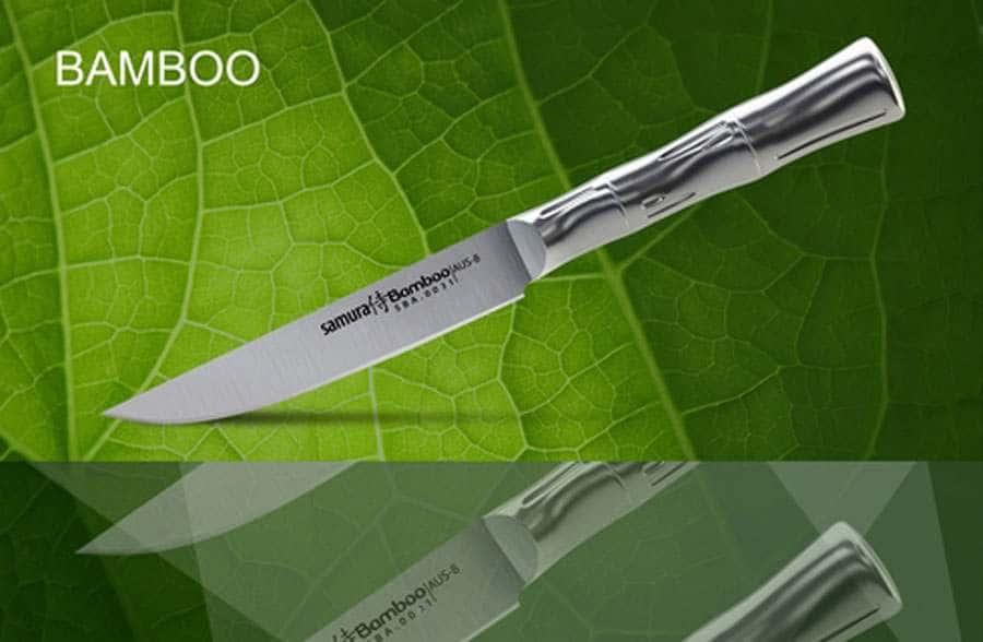 Bamboo Нож кухонный для стейка Samura