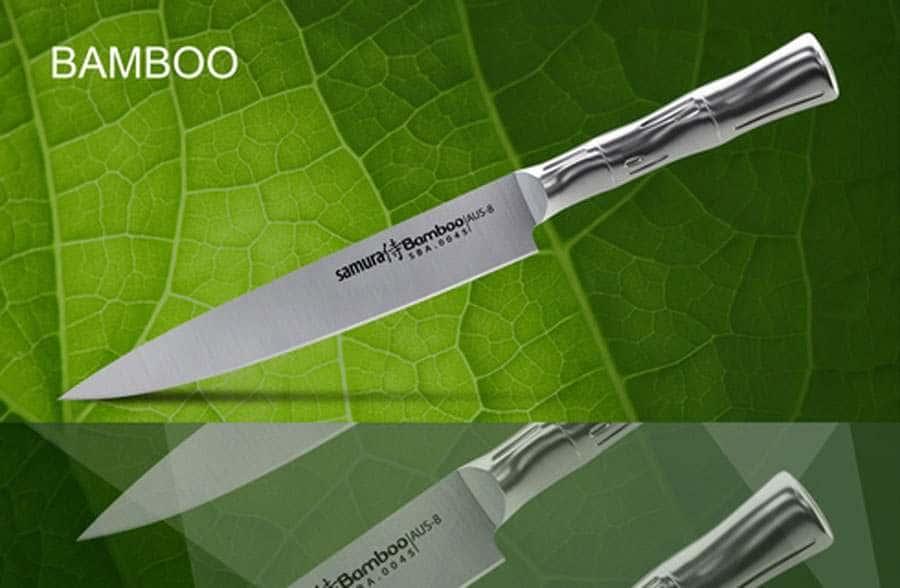 Bamboo Нож кухонный для нарезки Samura