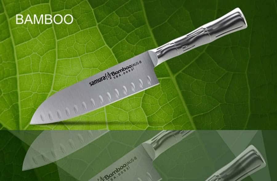 Bamboo Нож кухонный Сантоку  Samura