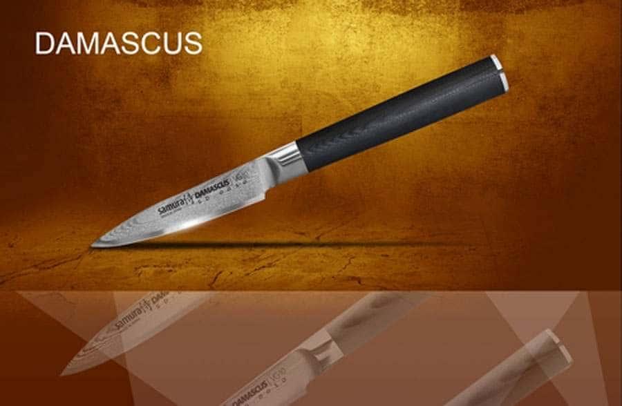 DAMASCUS Нож кухонный стальной овощной Samura