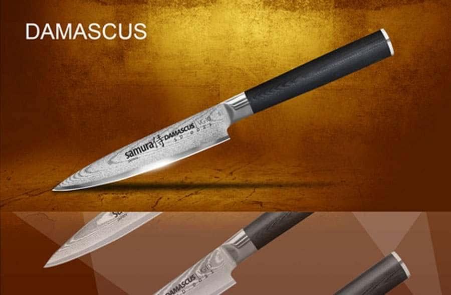DAMASCUS Нож кухонный стальной универсальный Samura
