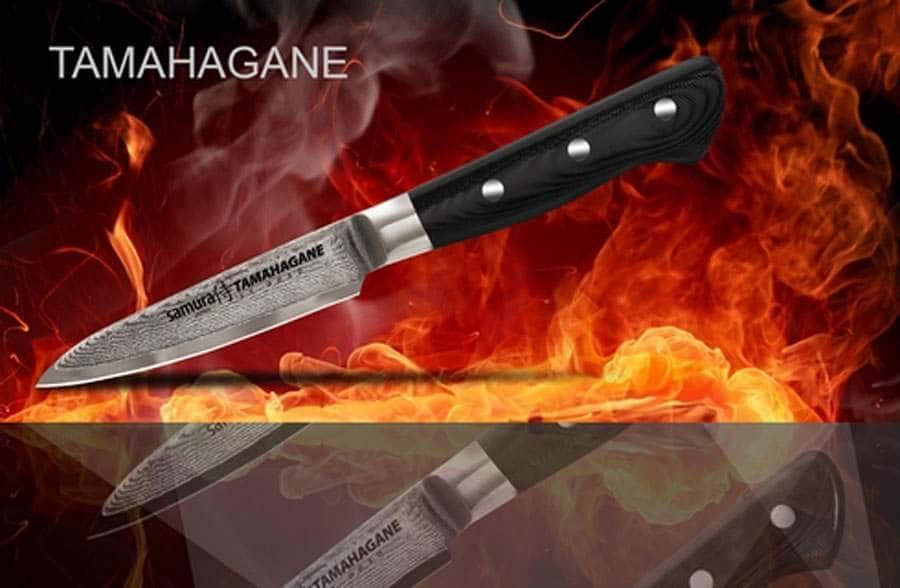 TAMAHAGANE Нож кухонныйст  овощной Samura мозаичный дамаск 101 слой