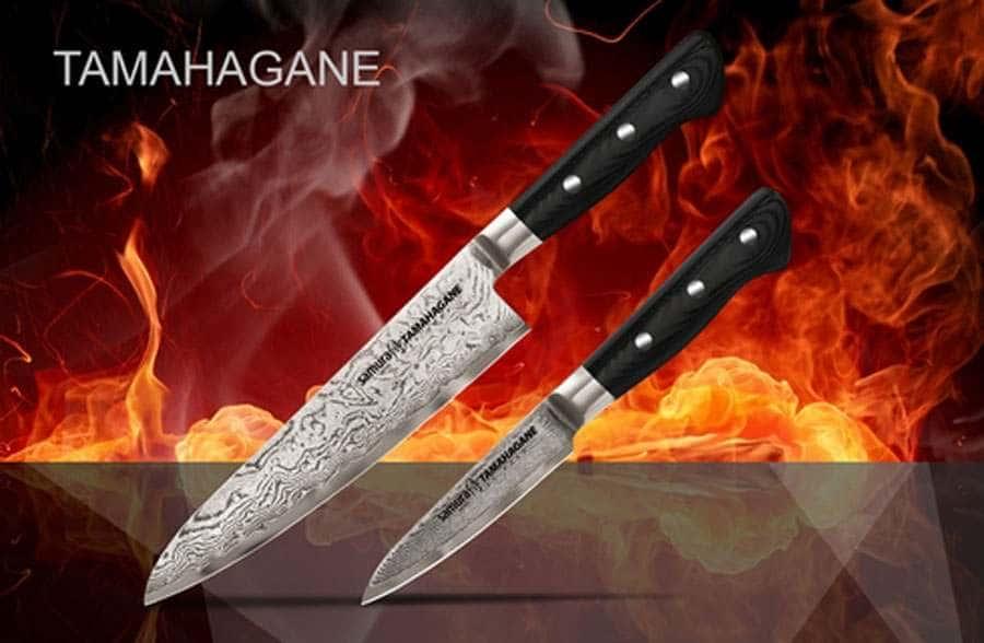 TAMAHAGANE Набор из 2 ножей в подарочной коробке Samura