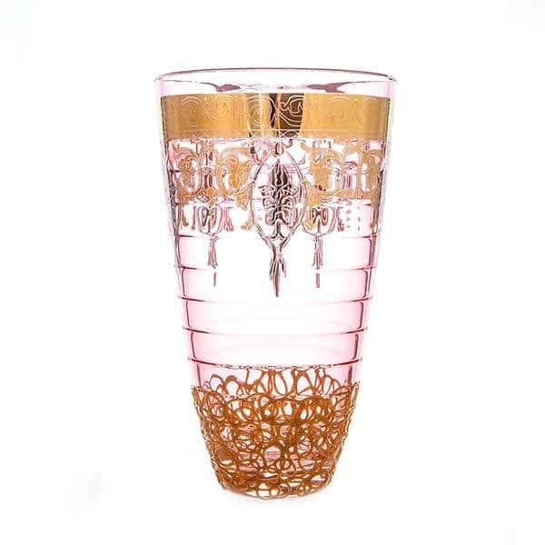 Алессия розовая Ваза для цветов Decotech 30 см
