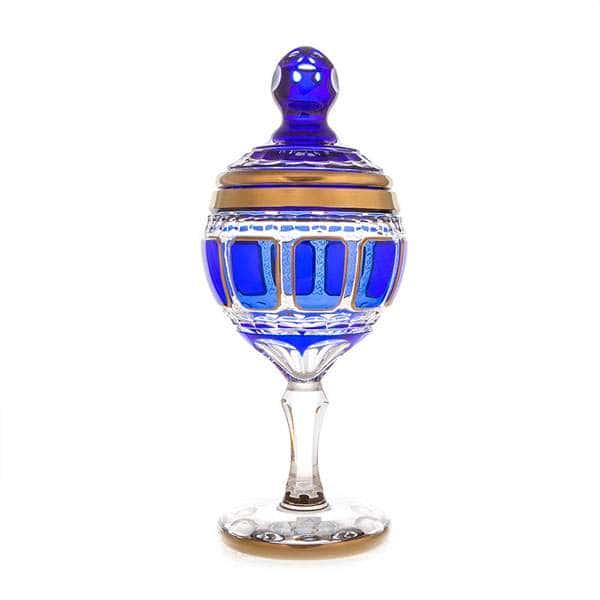 Арнштадт Антик синий Ваза для конфет 36 см