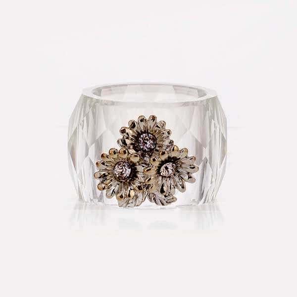Цветы Кольцо для салфетки Ranoldi 2 шт. из стекла
