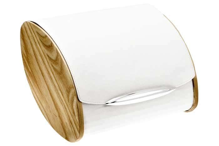 Хлебница Legnoart, из светлого дерева и эко-кожи Италия