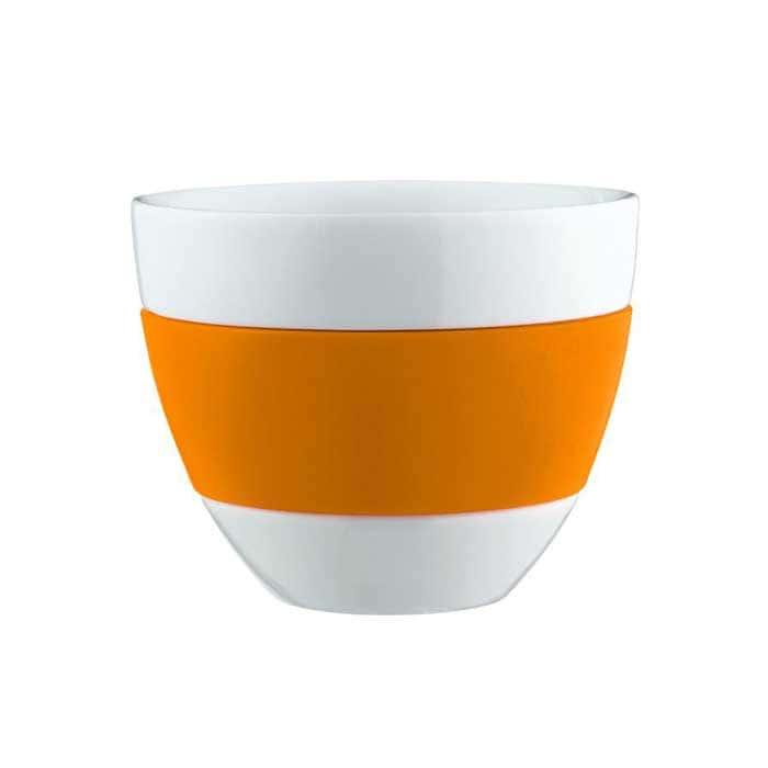 AROMA Кружка Koziol, оранжевый Германия из фарфора и пластика
