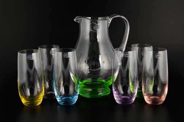 Арлекино Набор для воды Bohemia Crystal 7 предметов