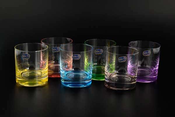 Арлекино Набор стаканов для виски  Bohemia Crystal 280 мл