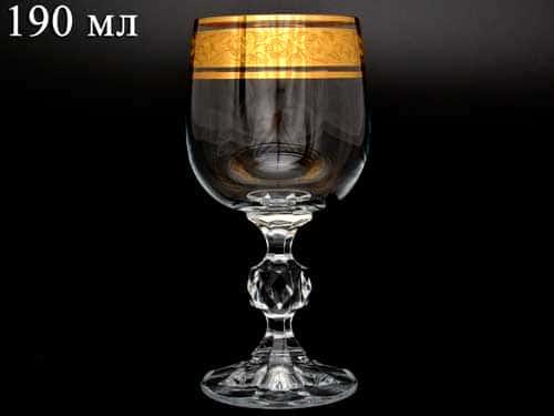 Клаудия Золото Фужер для вина Crystalite Bohemia 190 мл