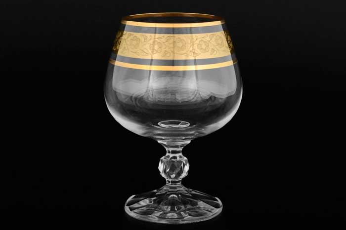 Клаудия Золото V-D Набор бокалов для бренди Crystalite Bohemia 250 мл 22477