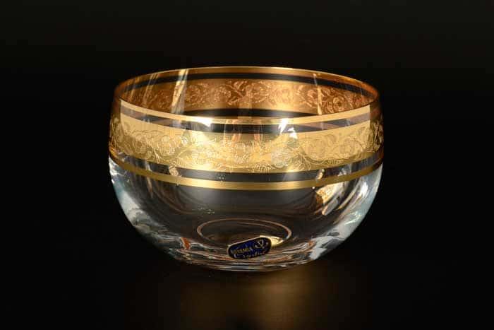 Клаудия Золото V-D Конфетница Crystalite Bohemia 12 см