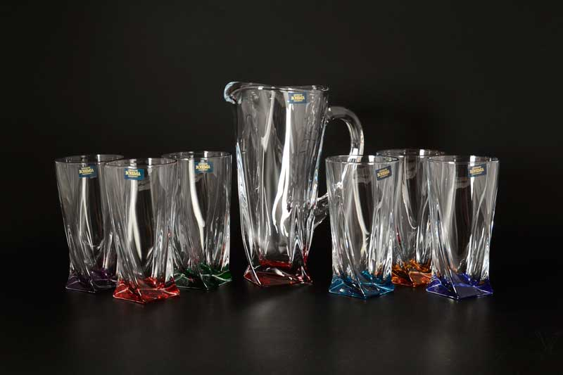 Quadro Ассорти BOHEMIA Crystalite Набор 7пр графин и стаканы 350мл