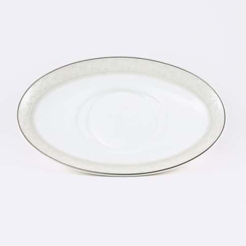 Арабеска Блюдце под соусник Никко 224мм*147мм*25мм из фарфора Япония
