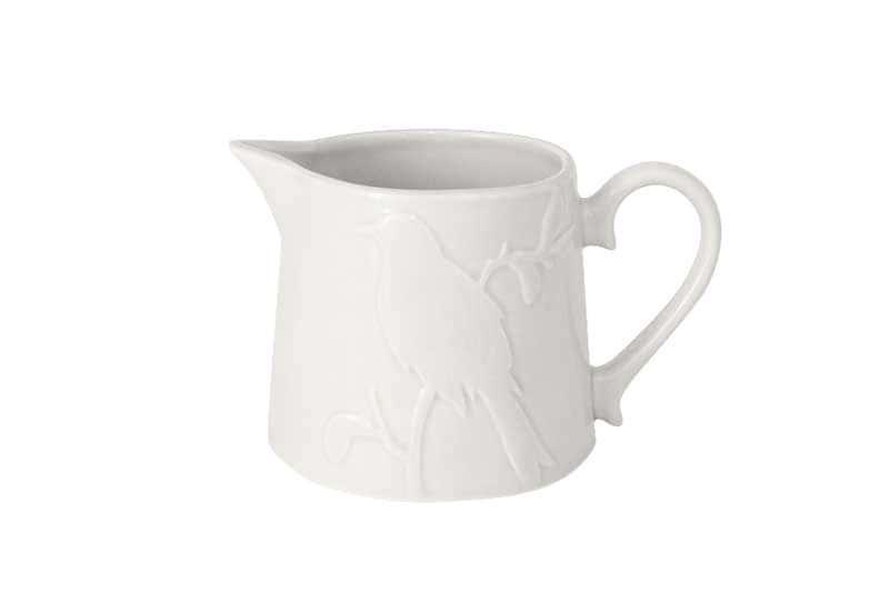 Птицы кремовая Молочник из керамики SantaFe Китай 0,5 л.
