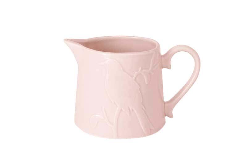 Птицы розовая Молочник из керамики SantaFe Китай 0,5 л.