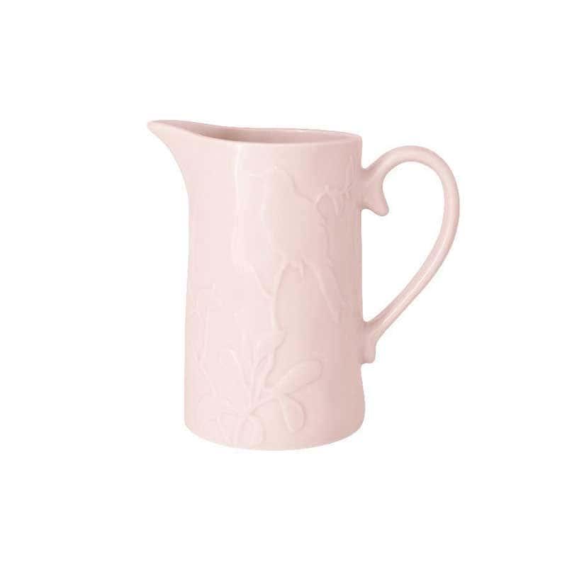 Птицы розовая Кувшин из керамики SantaFe Китай 1,1 л.