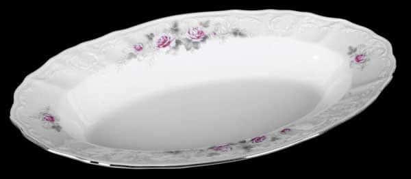 Роза серая платина 5396021 Блюдо овальное 24 см