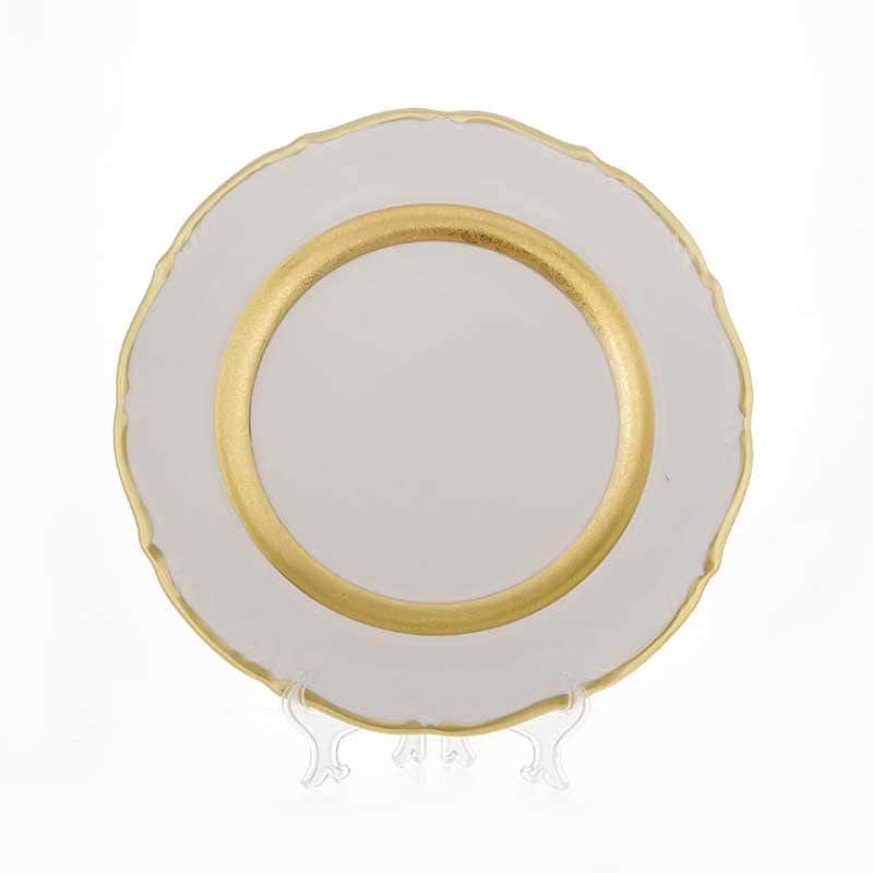 Лента золотая матовая 2 Блюдо круглое Bavarian 30 см.