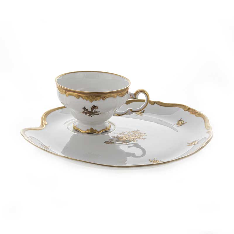 Роза золотая-Эгоист Набор чайный Weimar на 1 перс. 2 пред.