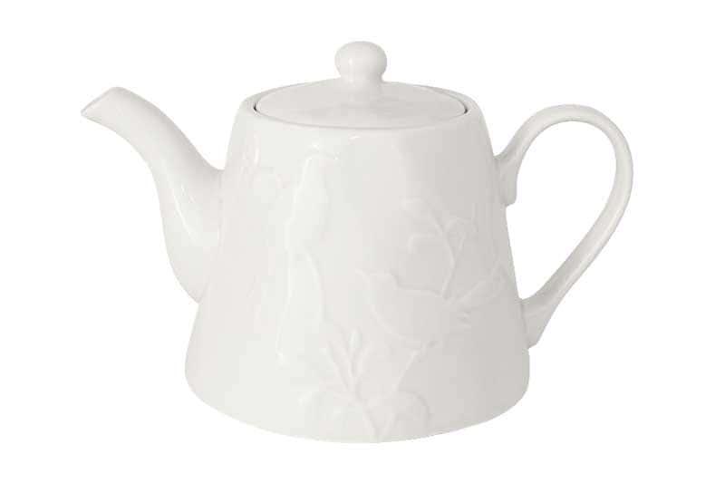 Птицы (кремовая) Чайник из керамики SantaFe Китай 1,3 л.