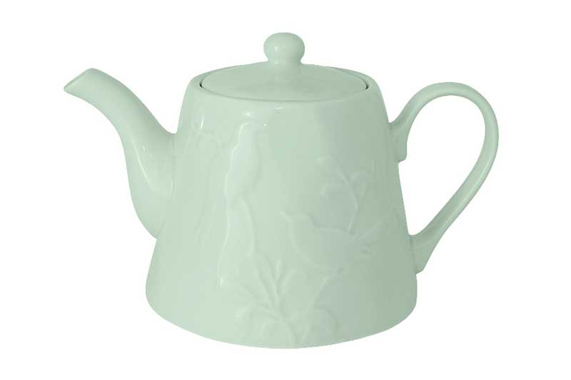 Птицы (зеленая) Чайник из керамики SantaFe Китай 1,3 л.