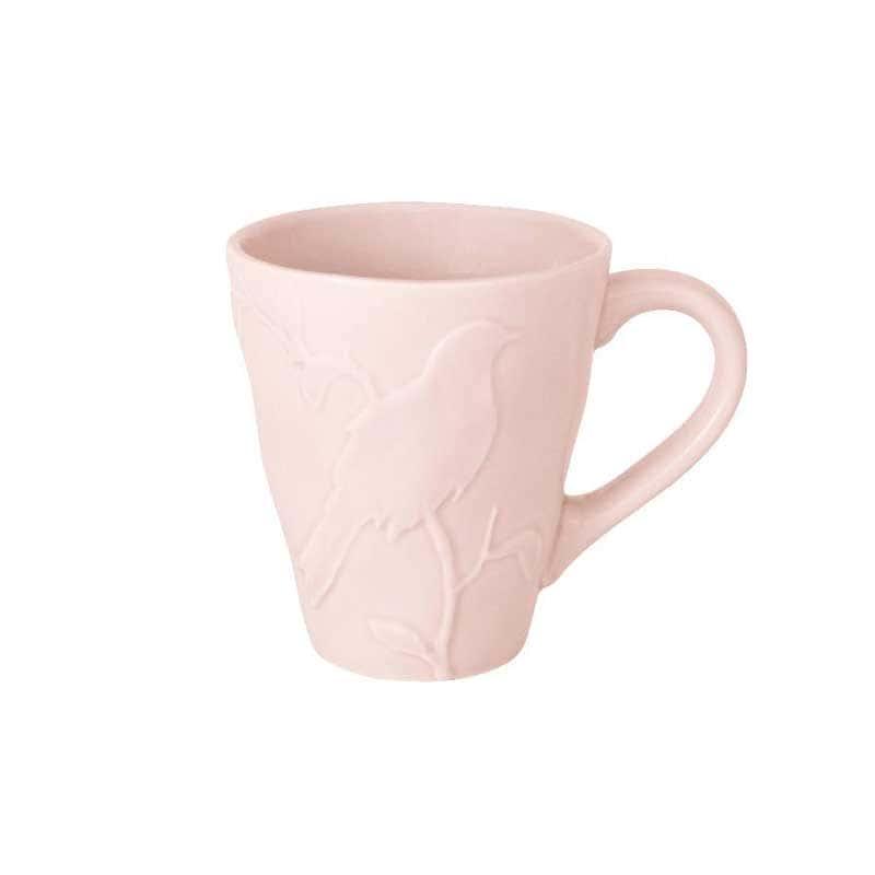 Птицы (розовая) Кружка из керамики SantaFe из Китая 0,3 л.
