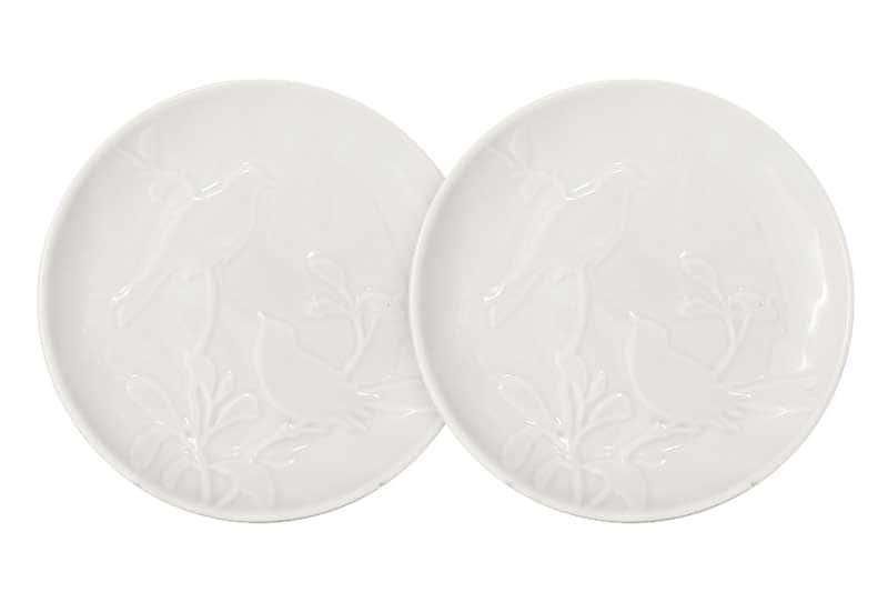 Птицы (кремовая) Набор из 2-х тарелок закусочных SantaFe Китай 18 см.