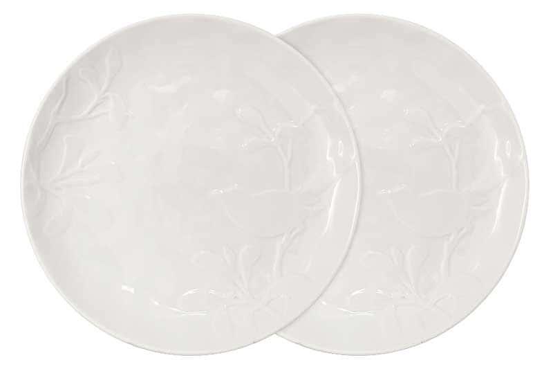 Птицы (кремовая) Набор из 2-х обеденных тарелок SantaFe Китай 27 см.