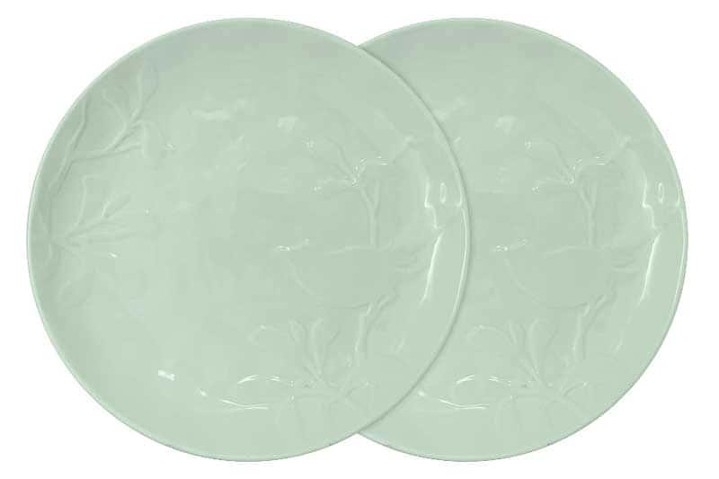 Птицы (зеленая) Набор из 2-х обеденных тарелок SantaFe Китай 27 см.