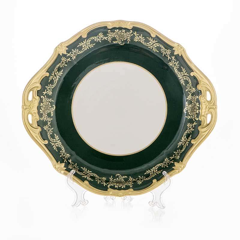 Ювел зеленый Блюдо круглое Weimar porzellan 28 см