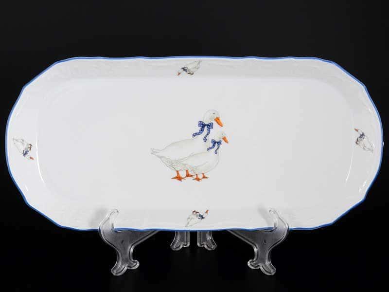 Гуси Е-М Поднос Jeremy 36 см из фарфора