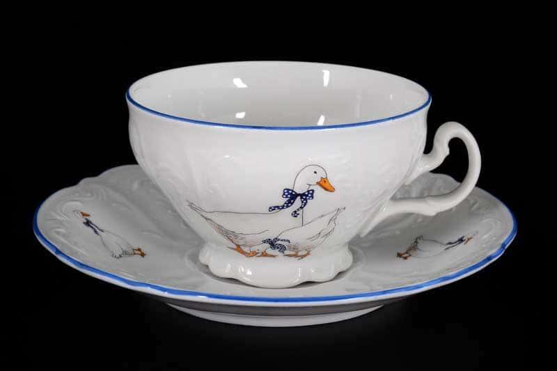 Гуси Е-М Набор чайных пар низкие Jeremy 220 мл (6 пар)