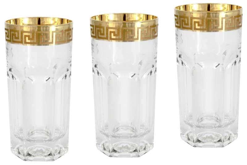 Версаче 6 стаканов для воды Саме (Same) Италия в подарочной упаковке